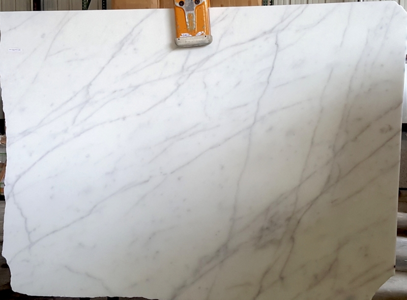 White Carrara Honed Finish Axial Stones Houston